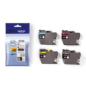 Pack de 4 cartouches LC3219XL (noir + cyan + magenta + jaune) pour imprimantes jet d'encre
