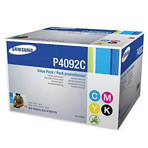 Pack 4 toners Samsung P4092C noir et couleurs pour imprimantes laser