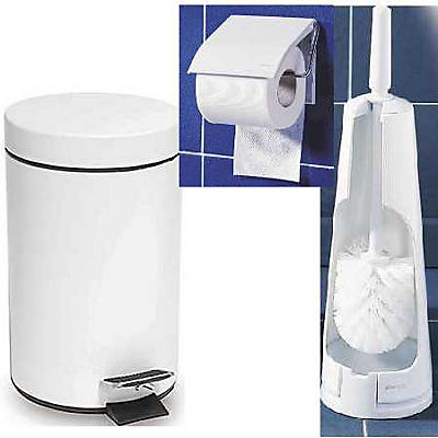 Pack accessoires WC blanc