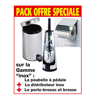 Pack accessoires WC inox