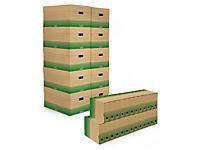 Pack archivage carton recyclé 50 boîtes-archives et 10 caisse multi-usages
