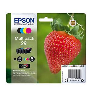 """Pack de cartouches d'encre Epson 29 """"Fraise"""" noir + couleurs pour imprimantes jet d'encre"""