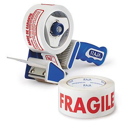 Pack dévidoir + adhésif imprimé polypropylène économique 28 microns RAJA