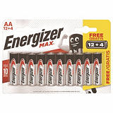 Pack promo 12 piles alcalines Energizer LR 06 - Type AA + 4 offertes
