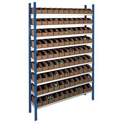Pack de stockage avec bacs en carton##Pak kartonnen magazijnbakken met stelling