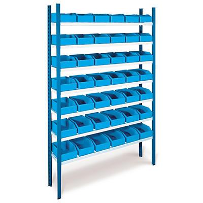 Pack de stockage avec rayonnage##Set Regal mit faltbaren Kunststoff-Regalkästen
