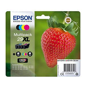 Pack van inktcartridges Epson 29 XL « Aardbei » zwart + kleuren voor inkjet printers