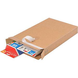 PACKBOX 25 vouwdozen, bruin, 346x243x46mm