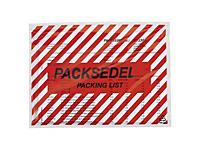 """Packsedelskuvert - 60my -  Rött zebratryck """"PACKSEDEL"""""""