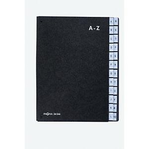 PAGNA Preclasificador con fuelle A-Z, 24 compartimentos, negro