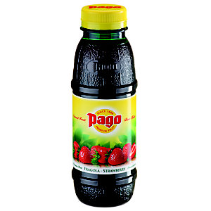 Pago Bouteille jus de fraises 33 cl (lot de 12 bouteilles)