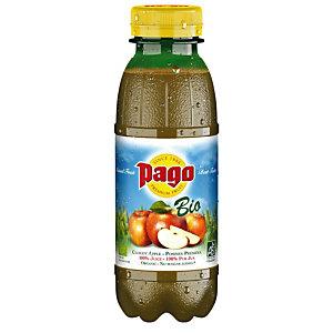 PAGO Bouteille jus de pommes bio 33 cl (lot de 12 bouteilles)
