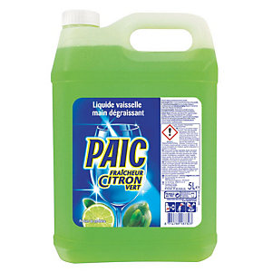 PAIC Liquide vaisselle mains concentré citron vert - Bidon 5 L