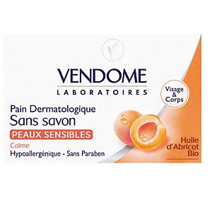 Pain dermatologique sans savon Vendome peaux sensibles, 100 g