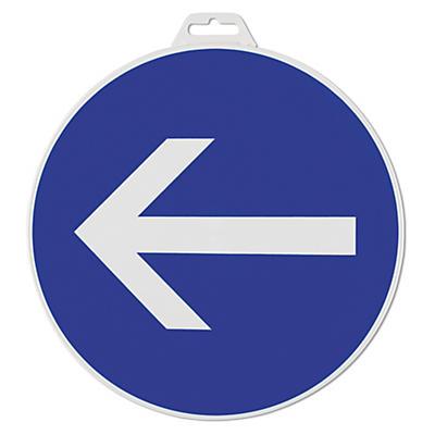 Painel de direção obrigatória redondo