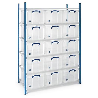 Pack de stockage avec caisses polyvalentes##Pak multifunctionele boxen met stelling