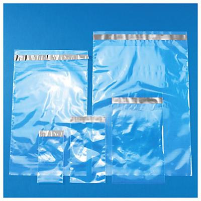 Paket med 1000 självhäftande plastpåsar - 5 olika storlekar - 40 my