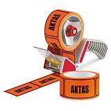 "Paketerbjudande PVC-varningstejp ""AKTAS"""