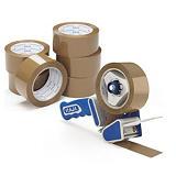 Paketerbjudande tyst PP-packtejp + dispenser