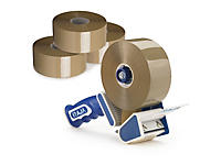 Pakketilbud - Ekstra lang PP-pakketape og hånddispenser