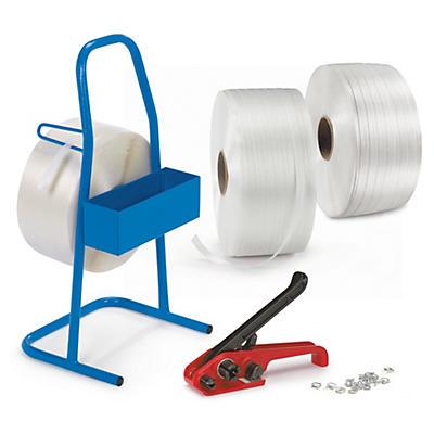 Pakketilbud - Startpakke med fiberbånd, avrullevogn og metallspenner