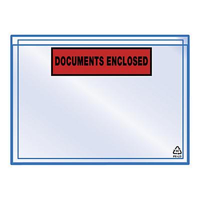 "Pakkseddellommer - 60 my - med trykk ""Documents enclosed"""