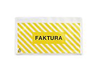 """Pakkseddellommer - 60 my - med trykk """"Faktura invoice"""""""