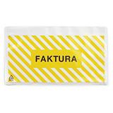 """Pakkseddellommer - 60 my - med trykk """"""""Faktura invoice"""""""""""