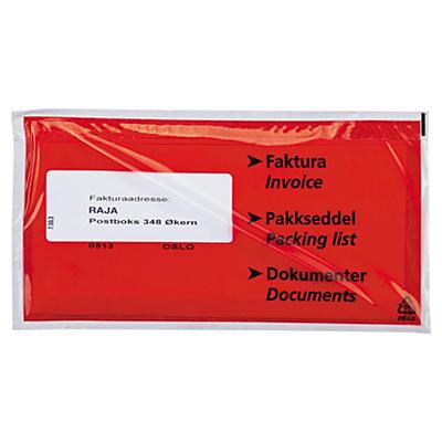"""Pakkseddellommer - 60 my - med trykk """"Faktura/Pakkseddel/Dokumenter"""""""