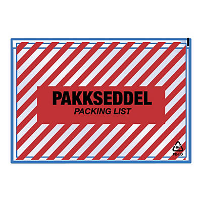 "Pakkseddellommer - 60 my - med trykk """"zebra"""""