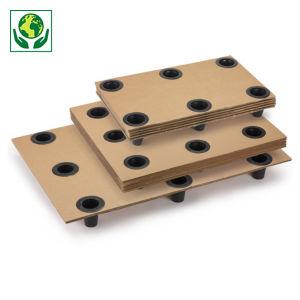 palette carton emboîtable à plots plastique Interpal