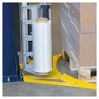 Pallet stops for Ecowrap rotating arm stretch machine