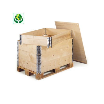Palletopzetrand in hout
