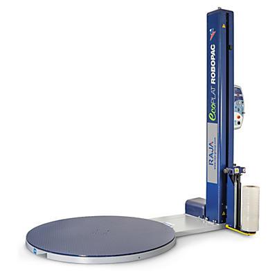 Banderoleuse programmable à plateau tournant et frein magnétique##Palletwikkelaar (programmeerbaar) met draaiplateau en magnetische rem