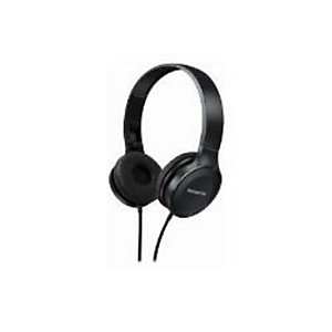 Panasonic, Cuffie e auricolari, Cuffia padiglione nero microfono, RP-HF100ME-K