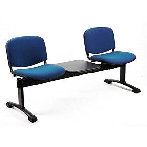 Panca attesa - 2 posti + tavolino - Blu