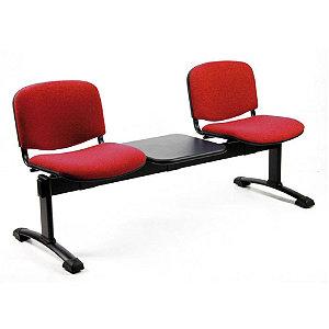 Panca attesa - 2 posti + tavolino - Rosso - Sedie Attesa ...