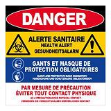 Panneau d'alerte sanitaire multilingue