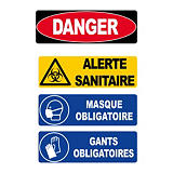 Panneau d'alerte sanitaire
