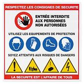Panneau consignes de sécurité