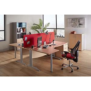 Panneau-écran acoustique All-fab, L. 160 cm - Tissu rouge