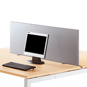 Panneau écran pour bureau L. 80 cm Aluminium