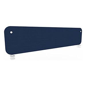 Panneau écran KOUSTIC pour bench - L.160 x H.40 cm -Tissu  Bleu foncé