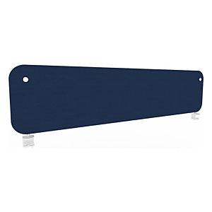 Panneau écran KOUSTIC frontal - L.160 x H.40 cm -Tissu Bleu foncé