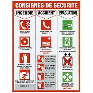 Panneau de signalisation des appels d'urgence 46 x 32 cm