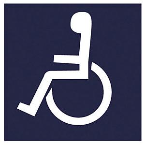Panneau de signalisation emplacement pour handicapés 20 x 20 cm