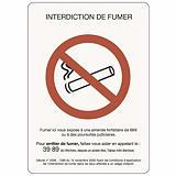 Panneau de signalisation d'interdiction de fumer A4