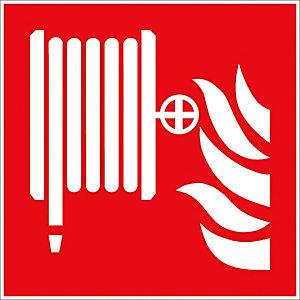 Panneau de signalisation logo lance incendie 20 x 20 cm