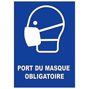 Panneau de signalisation port du masque obligation format A4