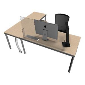 Pannello protettivo in plexiglass per scrivania, 120 x 65 cm, Trasparente
